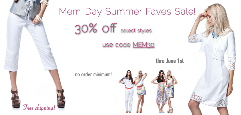 Mem Day Summer Faves Sale: 30% off select styles