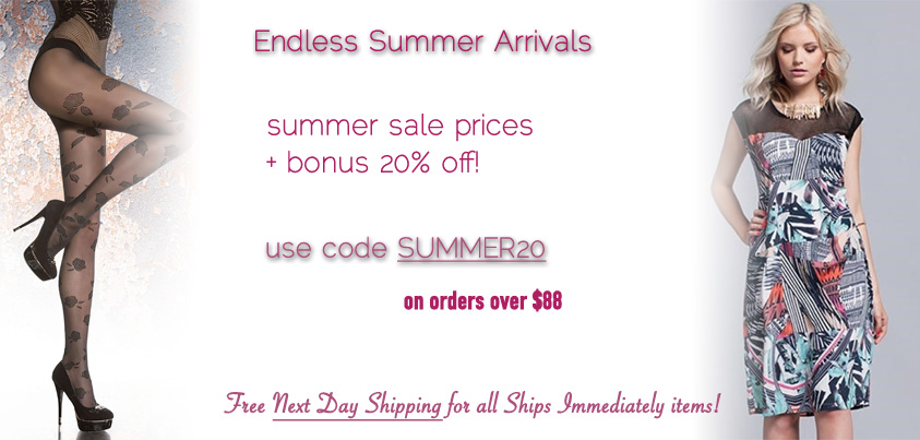 Endless Summer Arrivals: Get 20% off all sale and ships immediately styles